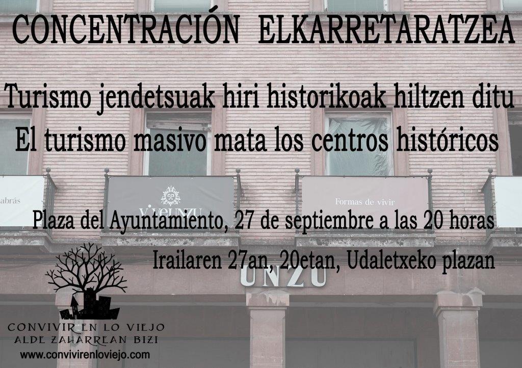 Turismo jendetsuak hiri historikoak hiltzen ditu/El turismo masivo mata los centros históricos
